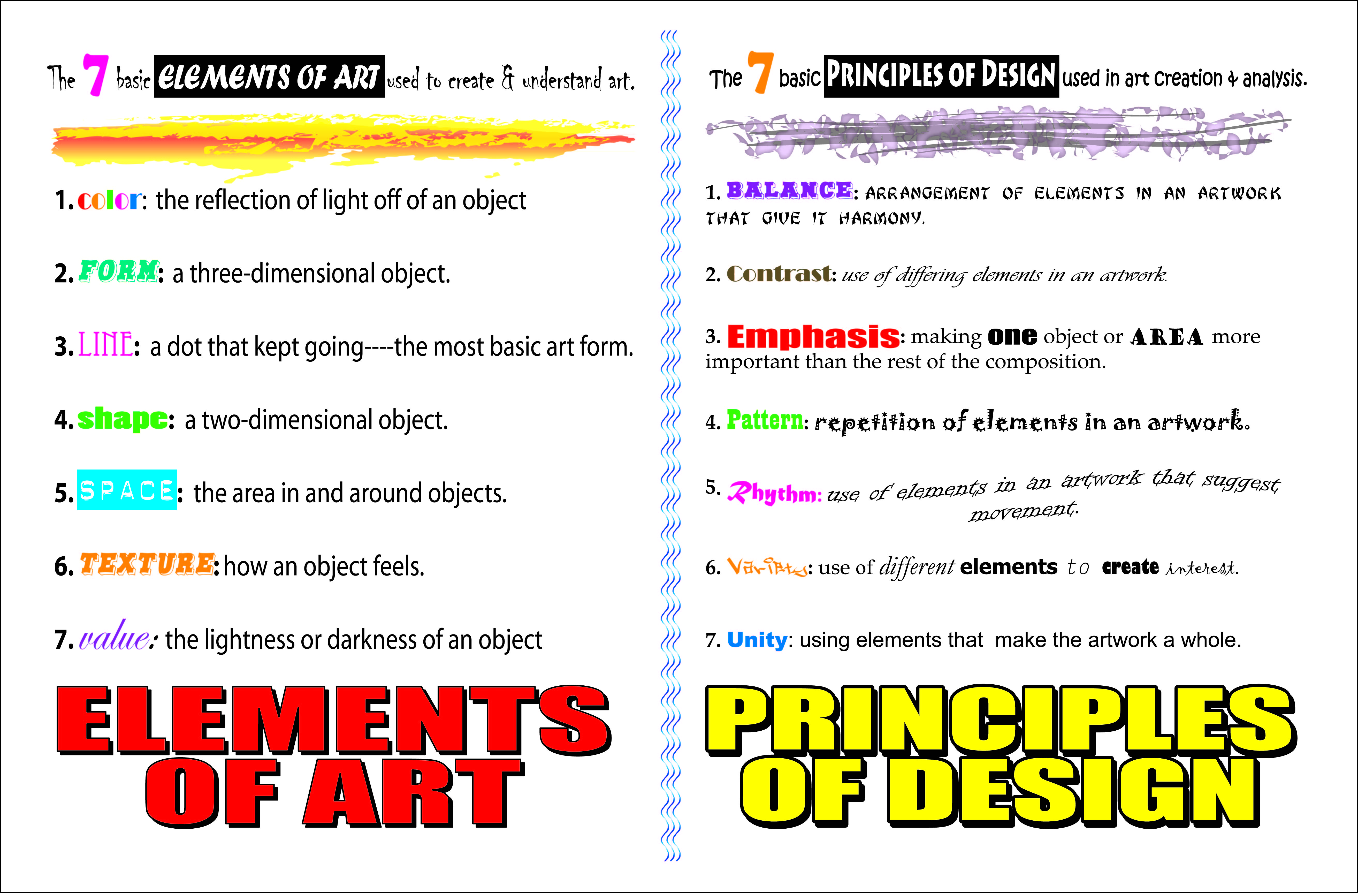List Principles Of Design : Art basics
